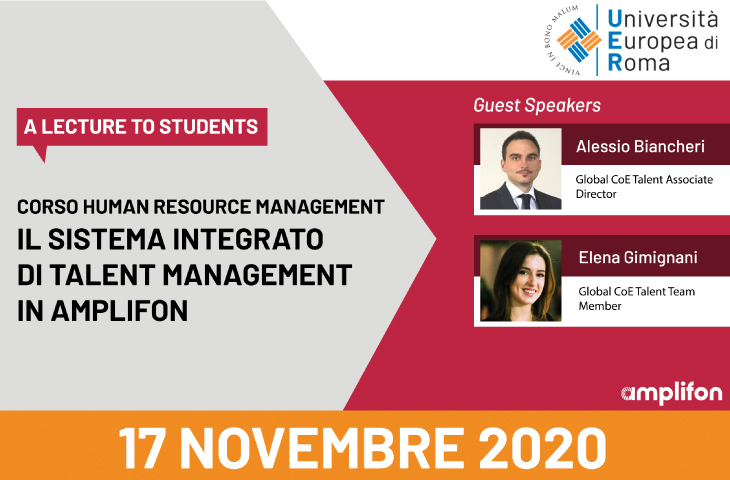 Lecture per il corso Human Resource Management