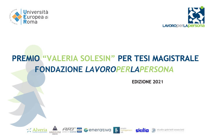 """VI Edizione Premio """"Valeria Solesin"""" per Tesi Magistrale"""