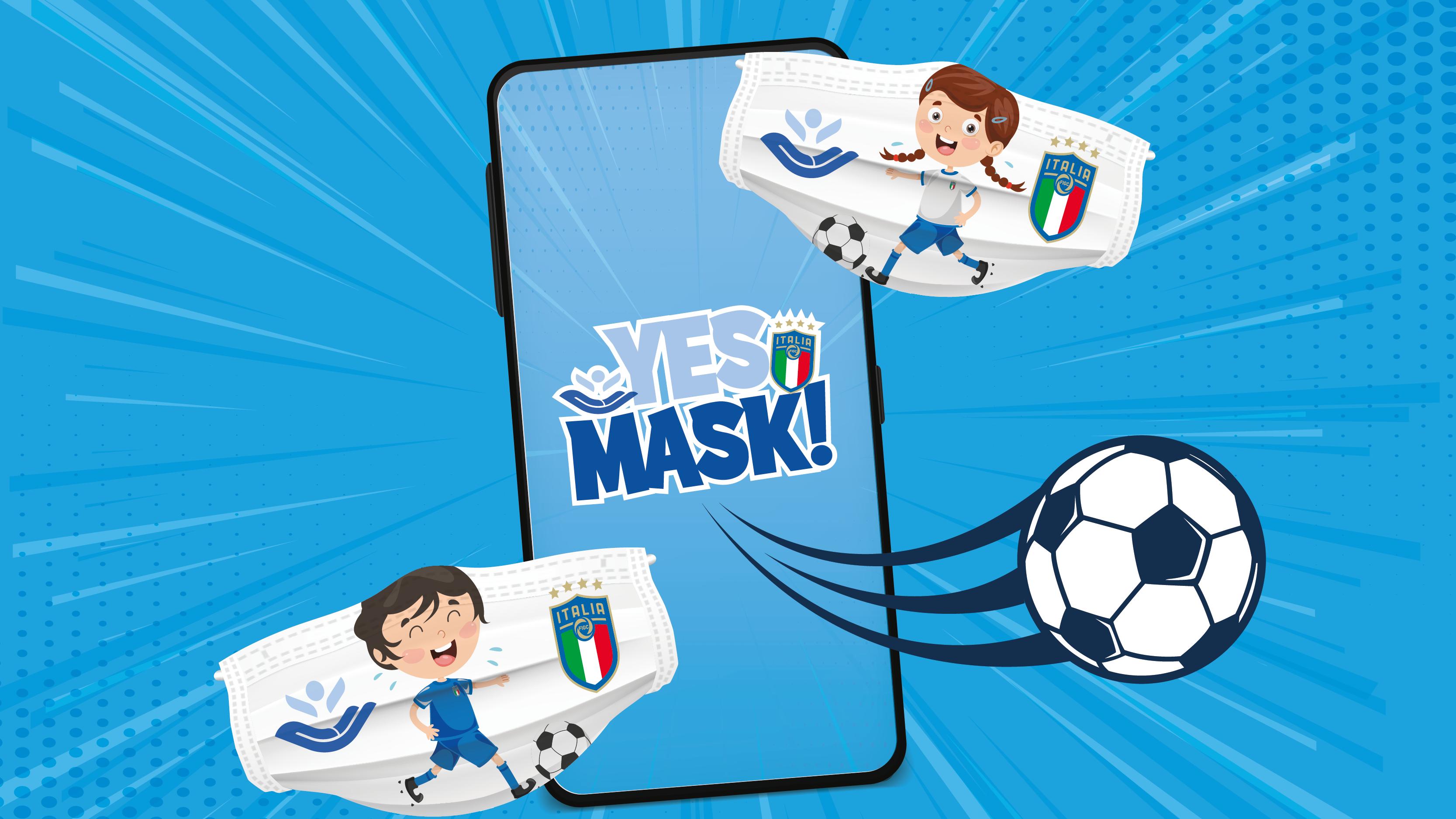 YES MASK, la campagna Instagram anti-Covid di FIGC e Bambino Gesù