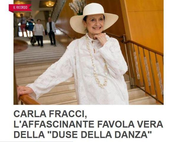 Luciano Regolo ricorda Carla Fracci