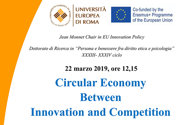 "Lectio Magistralis su ""Circular Economy Between Innovation and Competition"""