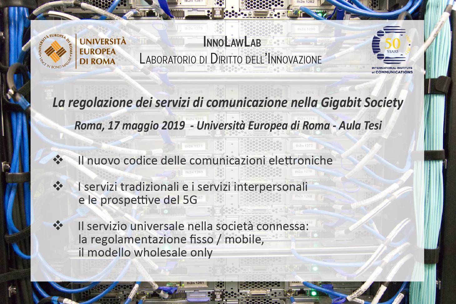 La regolazione dei servizi di comunicazione nella Gigabit society
