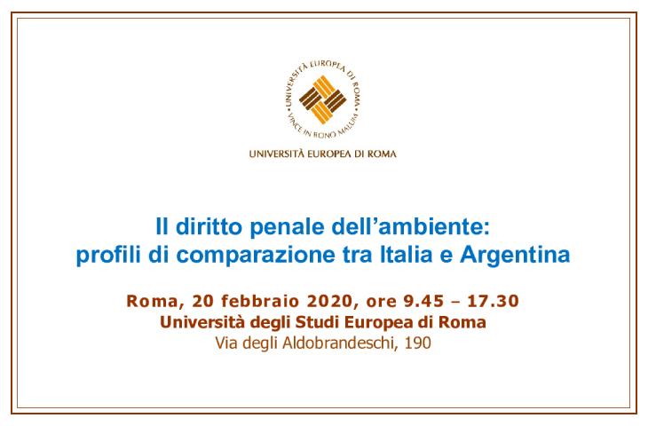 Giornata di diritto comparato penale italiano ed argentino