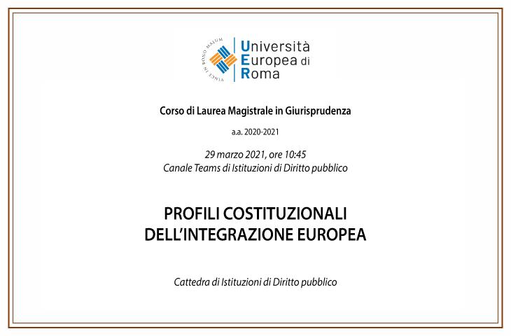 Profili costituzionali dell'integrazione europea