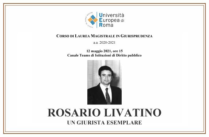 Rosario Livatino – Un giurista esemplare
