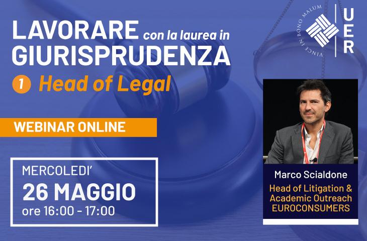 Lavorare con la Laurea in Giurisprudenza – Head of Legal