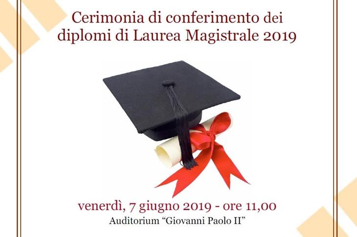 Lauree Magistrali – Cerimonia di conferimento diplomi 2019