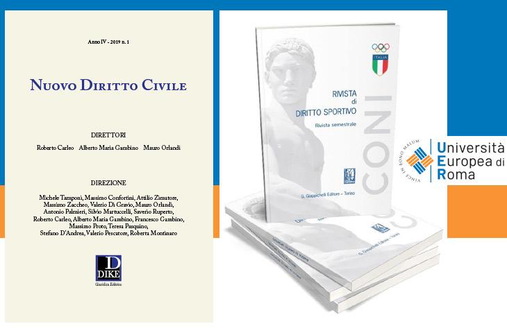 Due riviste giuridiche UER nel ranking internazionale ANVUR