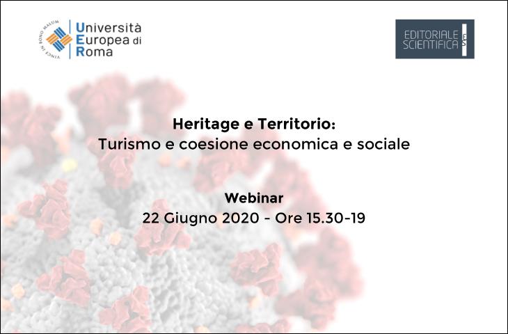 Webinar – Heritage e Territorio: Turismo e coesione economica e sociale