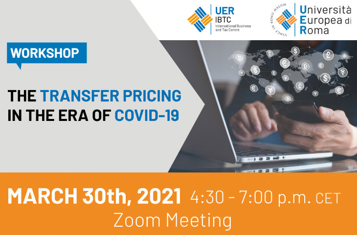 Workshop The Transfer Pricing in the Era of Covid