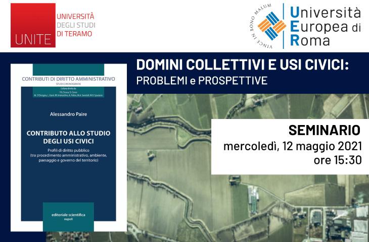 Seminario online – Domini collettivi e usi civici: problemi e prospettive
