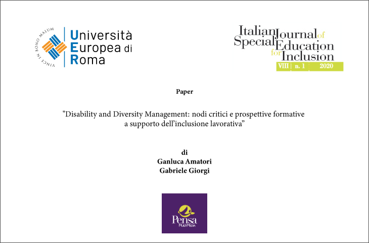 Paper su Disability Management – convegno a ottobre 2020