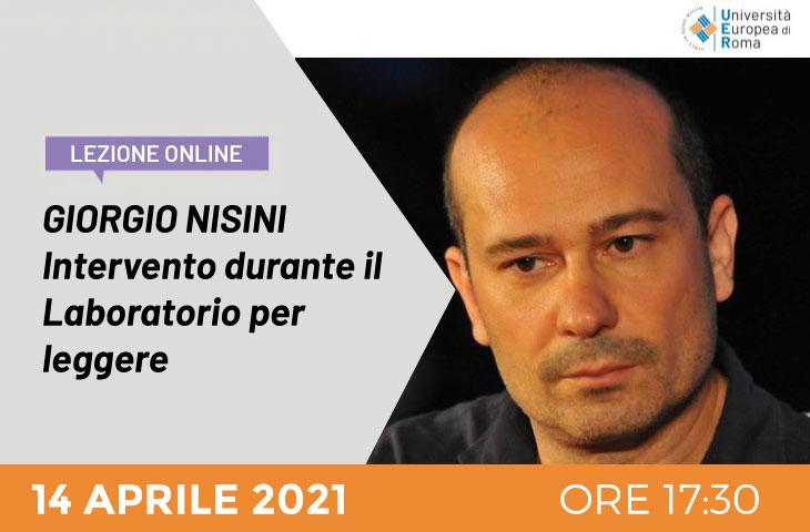 Lezione Online – Ospite Giorgio Nisini