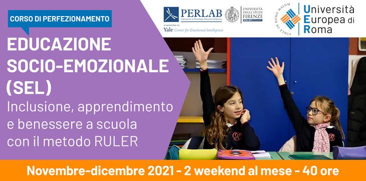 Corso di perfezionamento Educazione socio-emozionale (SEL). Inclusione, apprendimento e benessere a scuola  con il metodo RULER