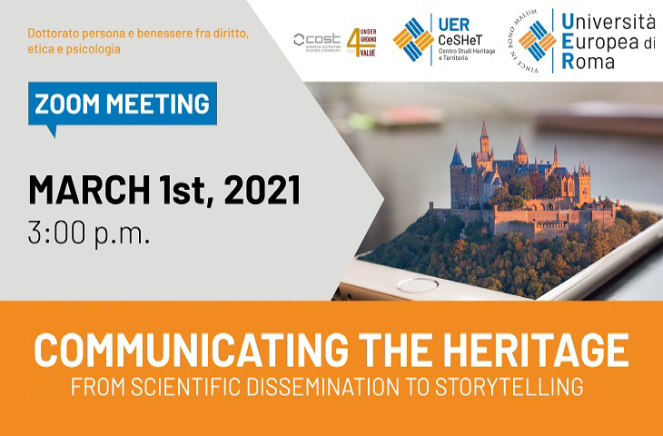 Communicating the Heritage: from scientific dissemination to story telling