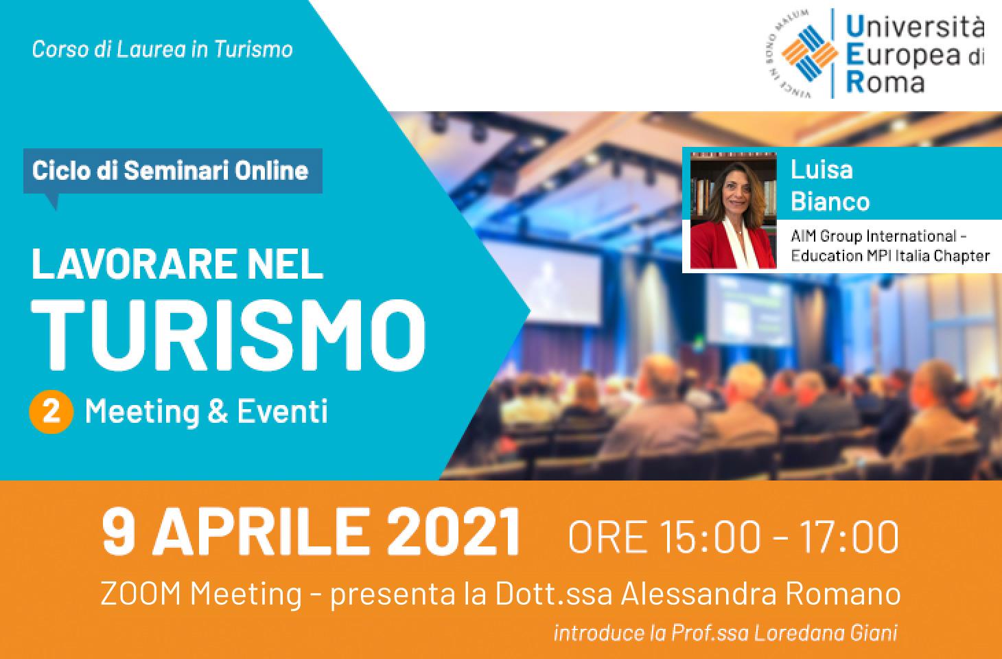 Lavorare nel turismo – Meeting & Eventi