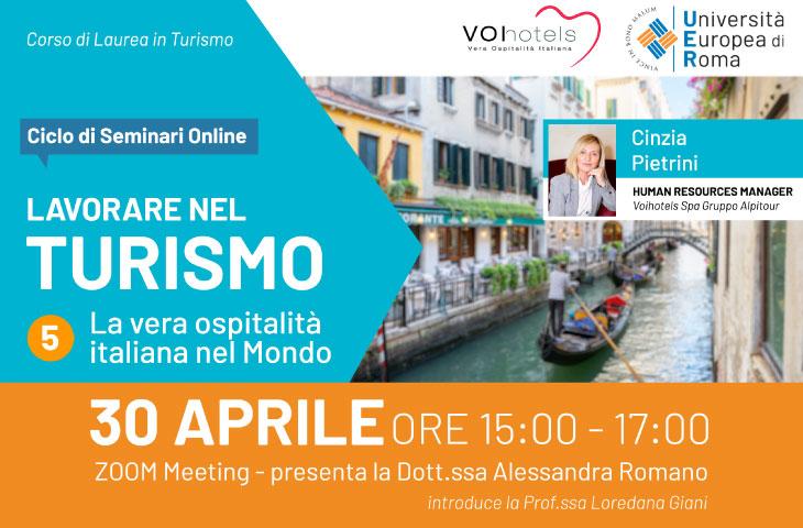 Lavorare nel Turismo – La vera ospitalità italiana nel mondo