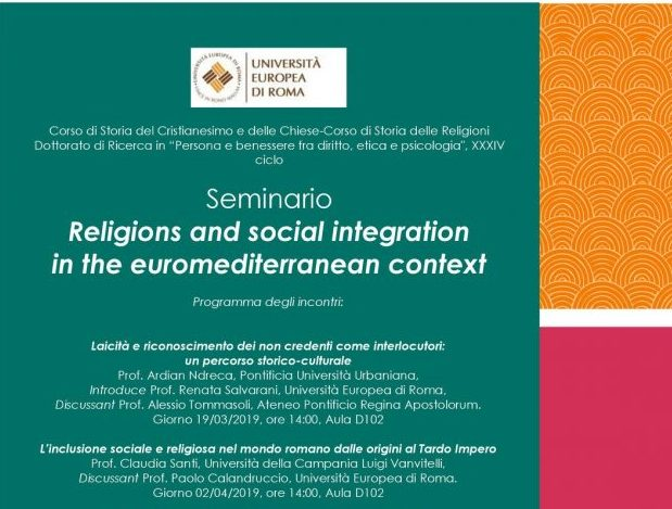 Religions and social integration in the euromediterranean context