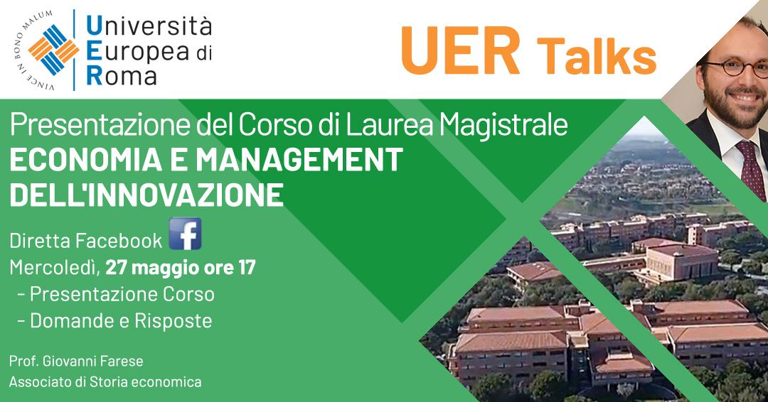 Corso di laurea magistrale Economia UER