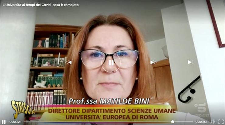 Professoressa Bini a Striscia la Notizia